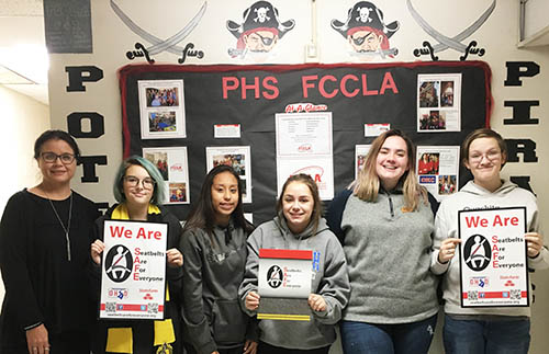 Poteau High School students participating in the Oklahoma SAFE program