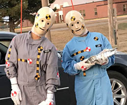 grab a copy of vince and larry crash test dummy scripts from OK Safe